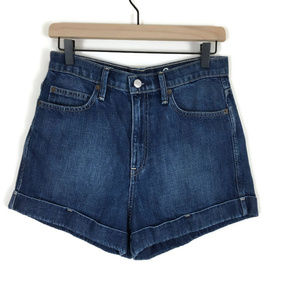 Gap Original High Rise Denim Jean Shorts Cuffed